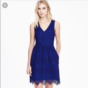 Banana Republic Royal Blue Lace Dress with Pockets